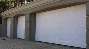 single and double aluminium white horizontal sectional overhead garage doors