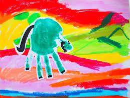 5 easy oil pastel drawing bu art@aftab / easy oil pastel drawing for beginners in this video i show you how to draw beautiful. Hand Print Franz Marc Expressionist Art With Kids Pink Stripey Socks