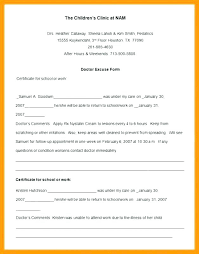 Free Doctors Note For Work Free Doctors Note For Missing School Excuse Template Design