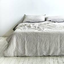 white striped sheets black and white striped bedding king 100 linen duvet cover in grey white