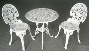 White Cast Iron Garden Furniture SANDYDELUCA DESIGN