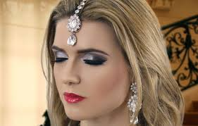 black smokey eye evening party makeup indian asian stani arabic make up tutorial you