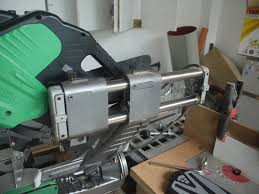 hitachi c12rsh. it can be locked in front, with the bars sliding out back hitachi c12rsh