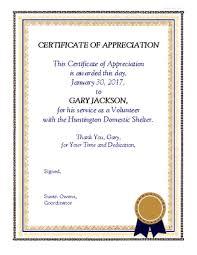 Certificate Of Appreciation Volunteer Work Volunteer Certificate Images Reverse Search