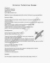 Resume For Avionics Technician