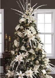 white and green themed xmas tree