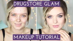 acne coverage glam makeup tutorial mypaleskin you
