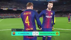 PES 2018 • FC Barcelona vs Borussia Dortmund Showroom ...