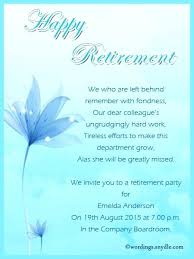 Free Retirement Announcement Flyer Template Retirement Template And Birthday Party Invitation Wording