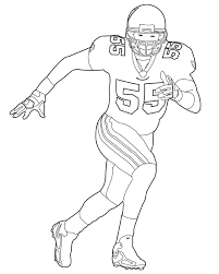 Nfl Coloring Pages Player Coloringstar