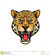 голова ягуара изолировала дизайн талисмана шаржа иллюстрация вектора