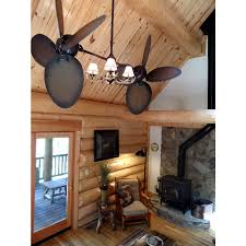 ceiling fan with antler lights