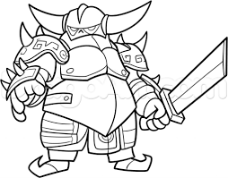 Clash Clans How To Draw Royale Coloring Pages Clash Royale