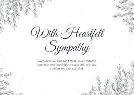 Condolence Template Stunning Condolence Card Template