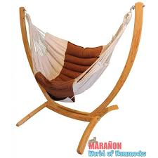 hanging chair rocker with wooden arc stand set