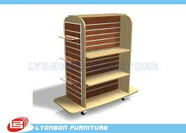 Retail Product Display Stands Mall Center Clothing Slatwall Display Stands MDF retail Gondola 100