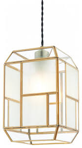 solid brass with clear and frosted glass non electric shade 40w