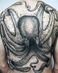 30 Octopus Zpět Tetování Vzory Pro Muže Podvodní Inkoustové Nápady