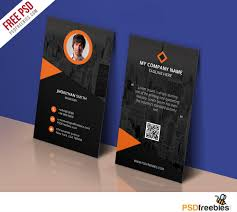 Free Sample Business Cards Templates Modern Corporate Business Card Template Free PSD PSDFreebies 14