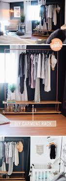 Rolling DIY Garment Rack for Your Wardrobe | Wardrobe rack ...