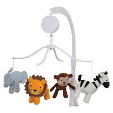 Bedtime Originals Jungle Buddies Musical Mobile Baby Crib Mobiles : Target
