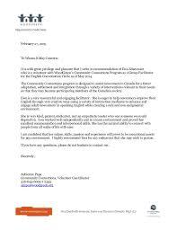 Volunteer Coordinator Letter Of Recommendation Kasta