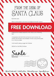Free Download Letter Free Personalised Santa Letter Bright Star Kids