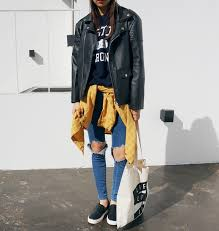 vans shoes black and white tumblr. pants jeans leather jacket flannel tote bag tumblr girl model black white yellow shirt vans shoes and