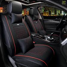10pcs pu leather car seat cover 5 seat front and rear seat cover set full surround needlework cod