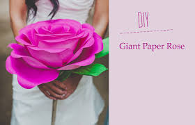 Pearl S Crafts Paper Flower Templates Diy Giant Paper Rose Flower