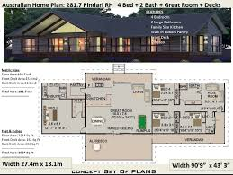 sloping land 4 bedroom house plan 281 7