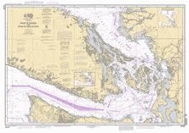 Burrard Inlet Depth Chart Strait Of Georgia And Strait Of Juan De Fuca Nautical Chart