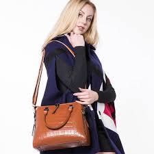 REALER women genuine leather handbags <b>fashion crocodile</b> ...