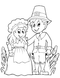Thanksgiving Pilgrim Girl Coloring Pages With Color Check Out These