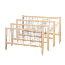 critter guard garden wood fence panel