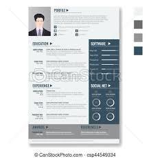 Vector Creative Minimalist Cv Resume Template With Two Pages Vector Impressive Minimalist Resume