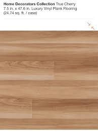 home decorators collection true cherry 7 5 in x 47 6 in luxury vinyl plank flooring