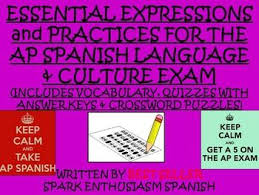 best ap spanish language and culture images ap ap spanish language exam response resource vocabulary unit for students