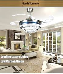 high end ceiling fans study lamp hanging alloy fashion crystal led modern fan india high end ceiling fans