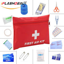 iflashdeal 13 pieces portable first aid kit medical bag survival mini emergency bag for car home