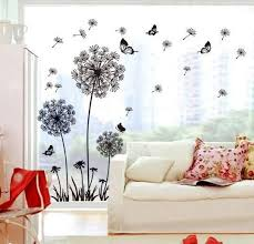 dandelion wall stickers large wall paper bedroom living room tv background wall home decoration removable stickers