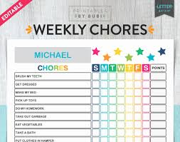 Editable Chore Chart For Adults Free Printable Chore Chart Templates Weekly For Adults