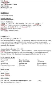 Camera Operator Resume Sample - http://resumesdesign.com/camera ...