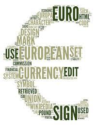 euro currency word cloud art