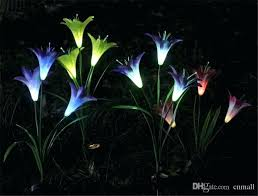 color changing solar garden lights. Solar Garden Stake Lights Led Power Flower Light Color . Changing