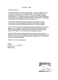 Becky Webb S Appeal Letter To The Louisiana Tax Commission