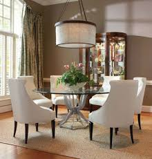 s m l f excellent choices for round glass dining table set for 4 glamorous interior design with white chairs
