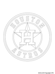 Small Picture Houston Astros Logo Mlb Baseball Sport Coloring Pages Printable