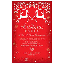 Christmas Holiday Invitations Christmas Reindeer Holiday Invitations
