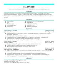 Administrative Assistant Summary Resumes Administrator Resume Airexpresscarrier Com
